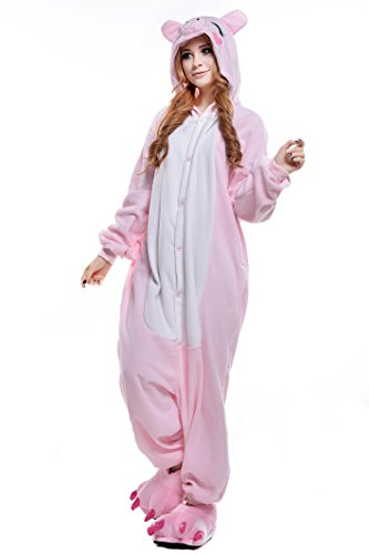 Newcosplay Unisex's Cartoon Clothing Animals Cosplay Costumes (S, Pink -