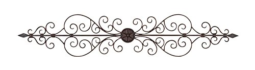 Deco 79 Rustic Floral and Scrolled Metal