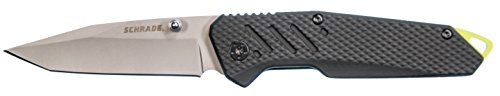 Schrade SCH707 7.28in High Carbon Stainless Steel Folding Knife with 3.15in Tanto Point Blade and Aluminum Handle for Outdoor Survival, Camping and EDC