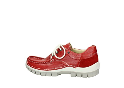 Grigio Jump Leather 757 Summer Red Wolky 4700 Scarpe Stringate Donna BXx7Hzn