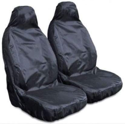 2 x Fronts Heavy Duty Black Pair Waterproof Car Front Seat Covers Protectors For Skoda Kodiaq