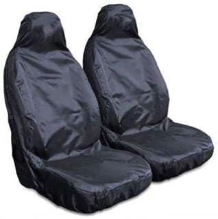 LAND ROVER DEFENDER 90 /& 110 Pair Of Waterproof Seat Covers Black