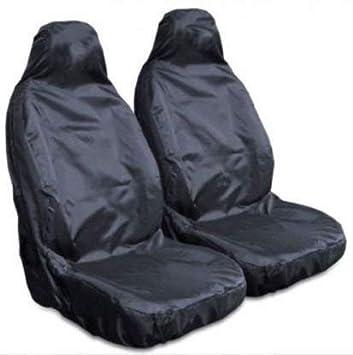 Heavy Duty Black Waterproof Car Seat Covers//Protectors 2 x Fronts