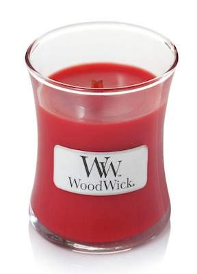 WoodWick Crimson Berries Mini Candle, Red