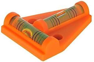 Strapazierf/ähig und Bruchsicher Wohnmobil Zubeh/ör MINIC Kreuzwasserwaage || Kleine Wasserwaage Perfekt f/ürs Camping Wohnwaagen Zubeh/ör Einfach zu Montieren