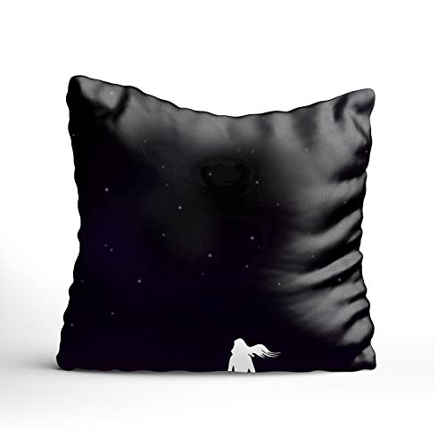 - FunnyLife Rustic Throw Pillow Cushion Cover,Night Sky Stars Decorative Square Accent Pillow Case