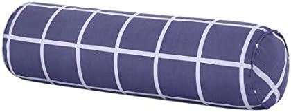 Pinji - Almohada Cilíndrica de Terciopelo, Cojín Cilíndrico Relleno de Alogdón Ultra Suave y Blando, Almohada Lumbar Almohada para el Cuello 2 en 1