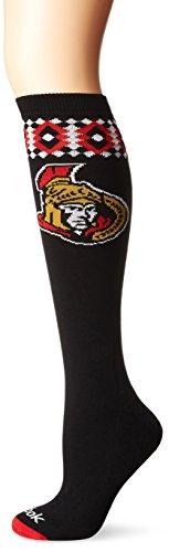 Reebok NHL Ottawa Senators Women's SP17 Diamond Knee High Socks, Black, One (Ottawa Senators Hockey Socks)
