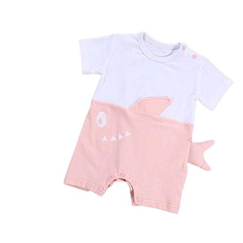 Petite Bouquet Pattern - vermers Clearance Sale Newborn Romper Kids Baby Cartoon Shark Printed Jumpsuits Outfits(9M, Pink)