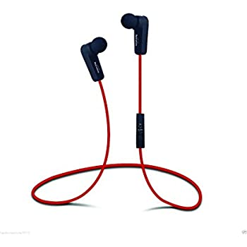 New Black/Red Bluetooth Earbud Headphones, Beyution, Wireless Bluetooth Headphones (Black) Ergonomic Comfort-Fit, iPhone, Android Compatible, Noise Isolating In-ear Headphones (Red)