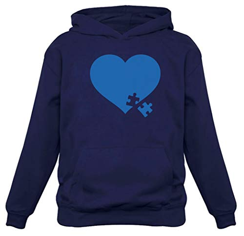 (TeeStars - Autism Awareness Heart Puzzle - Autism Awareness Month Women Hoodie Medium)