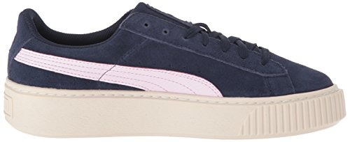 PUMA Unisex-Kids Suede Platform SNK Sneaker, Peacoat-Winsome Orchid Team Gold, 5 M US Big Kid by PUMA (Image #7)