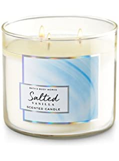Bath And Body Works Salted Vanilla 3 Wick 145 Ounce Scented Candle