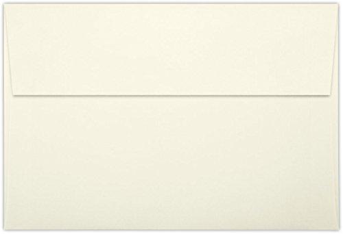 A8 Invitation Envelopes w/Peel & Press (5 1/2 x 8 1/8) - Natural Linen (50 Qty)   Perfect for Invitations, Announcements, Sending Cards, 5x7 Photos   LUX-4885-NLI-50 (Envelopes Linen A8)