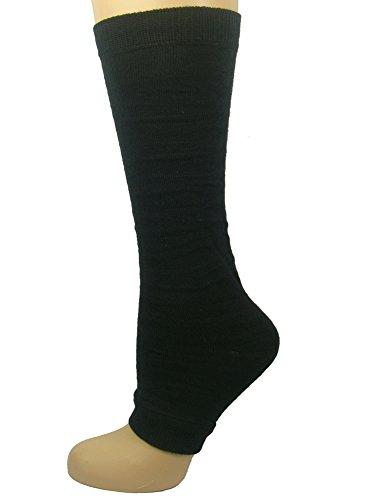 Mysocks Toeless Socks Plain Black