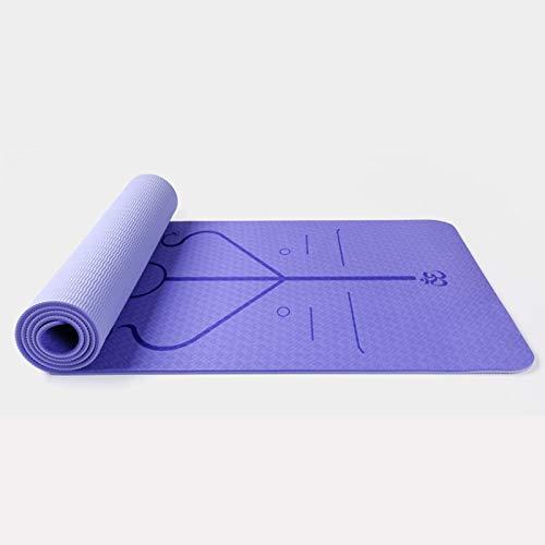 YOOMAT 6MM TPE Yogamatte Zweiseitige Farbe Körperposition Bewegung Gewichtsverlust Gymnastik Yoga Gym Sportmatte