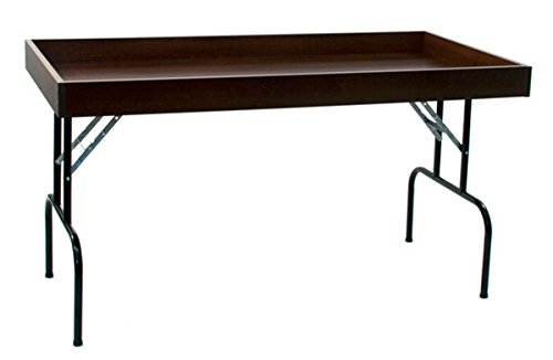Retail Display Dump Folding Table 30''W x 60''L Ship Knockdown Chocolate Cherry Lot of 2 NEW by Unknown