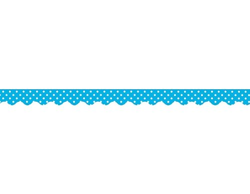 Teacher Created Resources Aqua Mini Polka Dots Border Trim, Aqua (4670)