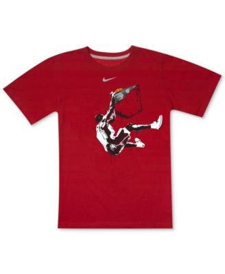 Nike Little Boys Dunk Dri-fit Tee Gym Red 2t