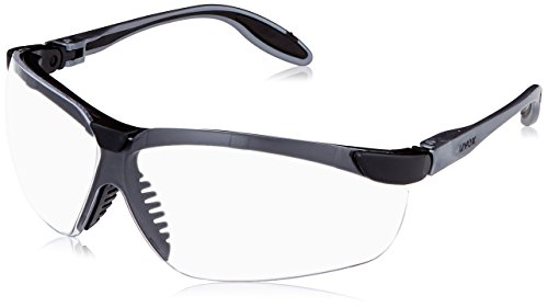 - Uvex S3700D Genesis Slim Safety Eyewear, Pewter and Black Frame, Clear Dura-Streme Hardcoat/Anti-Fog Lens
