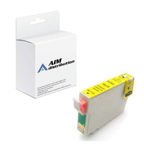 AIM Remanufactured Replacement for NO. 87 Yellow Inkjet (T087420-US) ()