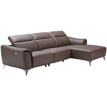Amazon Com 950 Modern Leather Right Hand Facing Sectional