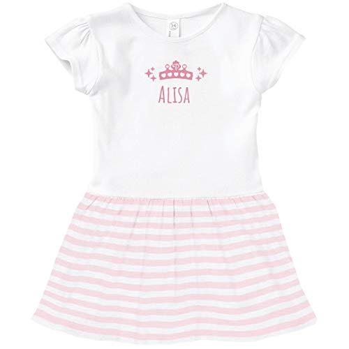 FUNNYSHIRTS.ORG Alisa Princess Outfit: Toddler Baby Rib Dress