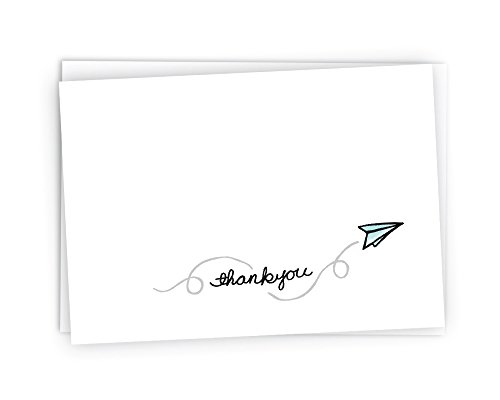 Paper Plane Thank You Cards - 24 Cards & Envelopes]()