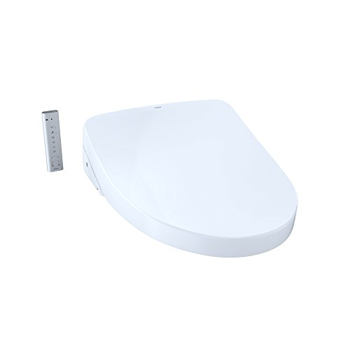 - TOTO SW3056T40#01 S550e Elongated Bidet ewater+ and Auto Open and Close Contemporary Lid, White-SW3056T40 Toilet Washlet Seat Cotton White