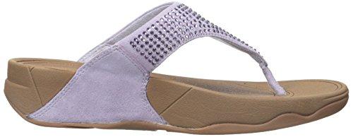 Fitflop Rokkit - Sandalias de cuero mujer púrpura - Purple (Summer Lilac)