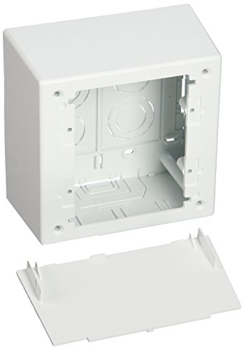 - Panduit JBP2DWH 2-Gang Deep Outlet Box, White, 2-Piece