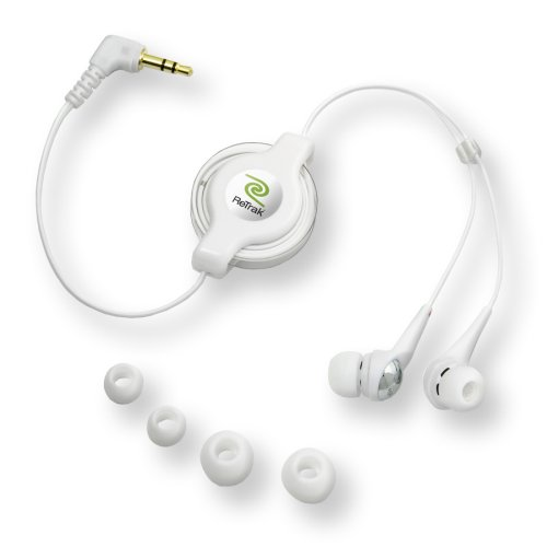 ReTrak Retractable Earbuds for (Retractable Earbuds Ipod)