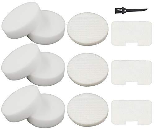 (6 Foam + 3 Felt Circular & Exhaust Filters Kit Replacement for Shark Navigator Swivel Upright Vacuum NV22, NV22L, NV22S, NV26, NV27, UV400 Part # XF22)