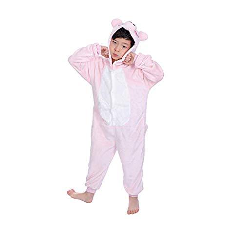 Riverdalin Toddler Kids Baby Boys Girls Romper Bodysuit Cartoon Hooded Pajamas Flannel Onesies Warm Jumpsuit Playsuit Outfits Pink