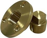 C CLINK Garboard Drain Plug Kit, Boat Garboard Transom Scuttle Drain Plug for 1 inch hole