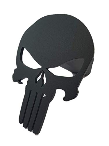 Punisher Trailer Hitch Cover - Steel & Powder ()