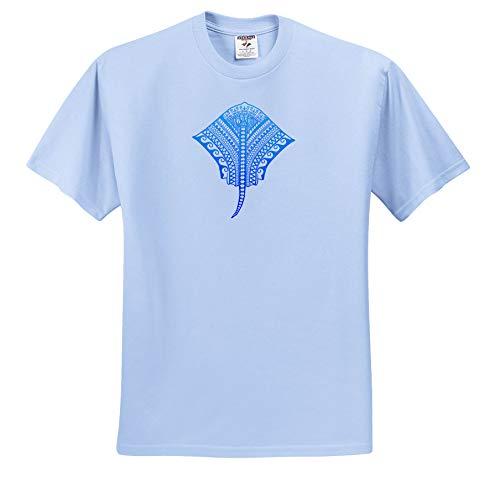 Stingray Basketball (Macdonald Creative Studios – Tribal Animals - Polynesian Hawaiian Tribal Artwork of a Stingray Manta ray. - T-Shirts - Toddler Light-Blue-T-Shirt (3T) (ts_295402_64))