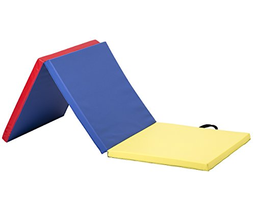 "BestMassage Gymnastics Mat Gym Mat Tumbling Mat 6'x2'x2"" Lightweight Foldable Gymnastic Tumbling Pad Gym Equipment Fitness Yoga Home Exercise Mat"