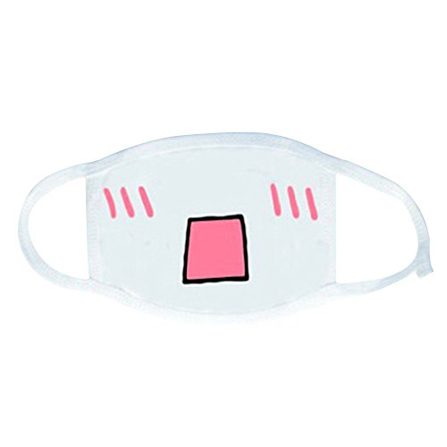 Gaweb White Anime Emoticon Mouth Muffle Kaomoji Anti Dust Cute Kawaii Face Mask