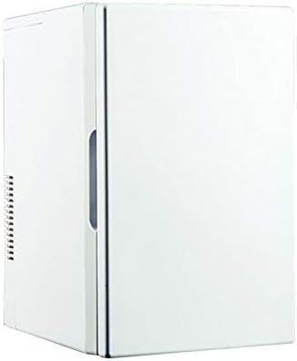 ポータブルミニカー冷蔵庫、18L小型家庭用冷蔵庫、家庭用+車兼用冷蔵庫、学生寮冷却ボックス、白冷蔵庫