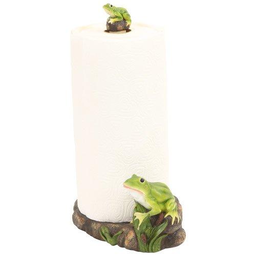 Frog Toad Paper Towel Holder Rack, 13-inch, Kitchen - Towel Sculpture