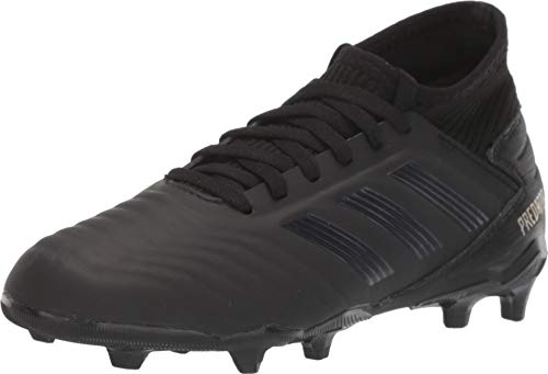 adidas Unisex Predator 19.3 Firm Ground Soccer Shoe, Black/Gold Metallic, 6 M US Big Kid
