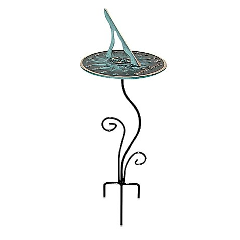 Rome Industries Flowerbed Sundial Pedestal Base on table and chairs set 6