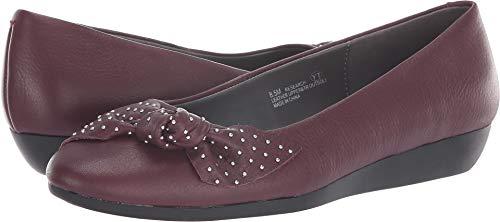 Aerosoles Women's Research Ballet Flat, Wine Leather, 8 M US