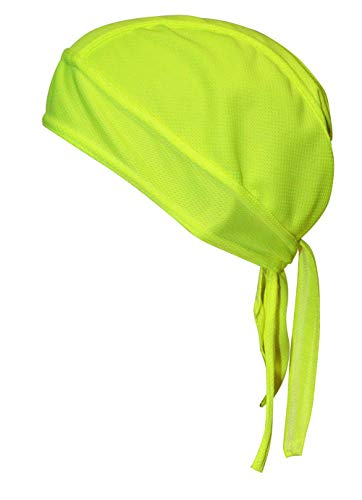 QING Sweat Wicking Beanie Cap Hat Chemo Cap Skull Cap for Men and Women (Yellow 1 - Skull Stretch Cap