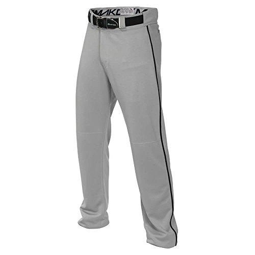 Easton Adult Mako 2 Piped Baseball Pants Grey/Green L