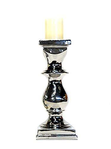 Castiçal Quadrado Silver Sarquis Samara Prata