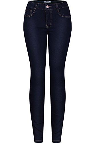 2LUV Women's Stretchy 5 Pocket Indigo Skinny Jeans Indigo 1(UJ-J56) (Rue 21 Carbon)