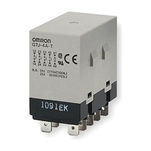 Omron - G7J-4A-T-W1-DC24 - 24VDC, 10-Pin Bracket Enclosed Power Relay; Electrical Connection: 1/4 Tab Terminal
