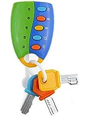 1pc Flash Music Remote Auto van baby speelgoed Interactive Early Educational Development speelgoed voor kinderen Children verjaardagsgeschenkGift Party Festival (blauw) Toy Supplies